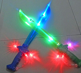 Wholesale Toy Knives Swords - Music flash sword stalls selling supply induction, luminous toy knife Children's plastic toys wholesale