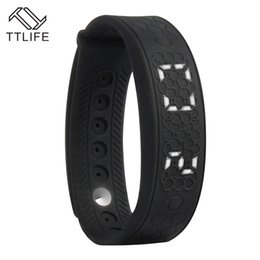Wholesale Heart Rate Monitor Usb - Wholesale- Fashion TTLIFE Brand Smart Bracelets Heart Rate Monitor Smart Bracelet USB Watch LED WristBand Real Time Calorie 3D Pedometer