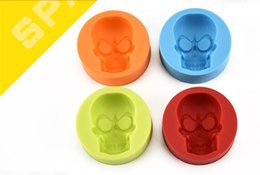 Wholesale Cakes Cupcakes - Creative Skull Head Silicone Mold for Cake Chocolate Cookies Baking Moulds Cupcake Kitchen Craft Tool Bakeware Pastry Tools G122
