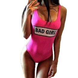 Wholesale Bad Girl Sexy - 2017 Solid Bad Girl High Cut Swimsuit Sexy One Piece Swimsuits Women Bathing Suit Female Swimwear Free Shipping