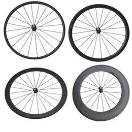 Wholesale Light Racing Bike - Only Front Wheel Novatec 271 700C 24mm 38mm 50mm 60mm 88mm Clincher Tubular Road Bike Bicycle Light Carbon Wheels Racing Carbon Wheel