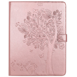 Wholesale Smart Pouch Leather - iPad 2 3 4 Case, Laser Carving Tree PU Leather Flip Protective Case [Card Slot Case] [Magnetic Closure] Stand Smart Cover For iPad 2 3 4