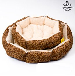 Wholesale Blue Beds - Hot sales! NEW! Colorful Leopard print Pet Cat and Dog bed Pink, Blue,Yellow SIZE M,L Free Shipping