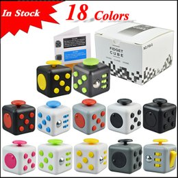 Wholesale Popular Stocks - In stock 18 Colors Popular Decompression Toy Fidget cube the world's first American decompression anxiety Toys via DHL
