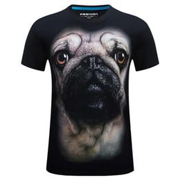 Wholesale T Shirt For Dog Xl - 2016 Summer t shirts 3d dog fashion t shirt for men hippop 10 styles high quality T-Shirts
