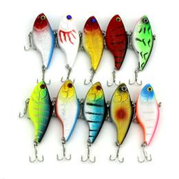 spogliarelli spogliarono Sconti 10 pz / lotto Minnow Fishing Lure 7.5 cm Esche Da Pesca Artificiale Duro VIB Esca per Pesca Sinking Trota Esca Accessori Per Pesci 18.7g