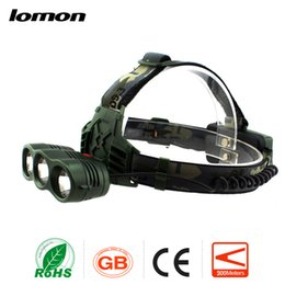 Wholesale Hunting Headlights Sale - 3 LED Headlamp Outdoor Hunting Fishing Cycling Hiking Torch Rechargeable Headlight Three Light Source 3 Modes CREE XPE Flashlight hot sale