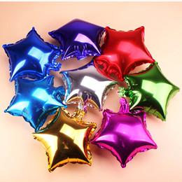 2019 globos de papel de color Fiesta Decoración de la boda Forma de la estrella Foil Globos de helio Color puro Metálico Inflable Globos Cumpleaños Aniversario de bodas Suministros para fiestas globos de papel de color baratos