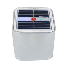 Wholesale Strobe Lights Waterproof - Cube Inflatable LED Lantern Lamp with Solar Panel PVC IPX7 Waterproof Dimmable White Light Strobe Light Mode Outdoors