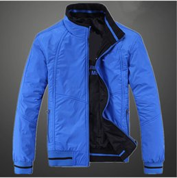 Wholesale Double Zipper Coat - Fall winter Fashion Double-sided Men's Jackets Outerwear Casual Jacket Men Sportswear Windbreaker Zipper windproof Coats plus size 5XL