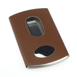 Wholesale Shaped Handbag Holder - Vintage Men Business Credit Card Holder Case Handbags Clutch Fashion Thumb Slide Stainless Steel Pocket Casual High Quality
