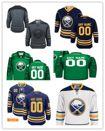 Wholesale Nhl Jersey Number - 100% stitched Buffalo Sabres Custom NHL JERSEYS Men's women youth Buffalo Sabres Custom ice hockey Jersey name and number embroidery