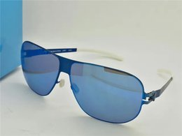 Wholesale Rivers Blue - New mykita RIVER designer sunglasses for man ultralight Alloy Memory frame sunglasses for women cool outdoor design sun glasses