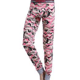 Wholesale Tight Pajamas Pants Men - New arrival brand COCKCON men underwear Camouflage cotton long johns U pouch Tight pajamas Warm under pant legging