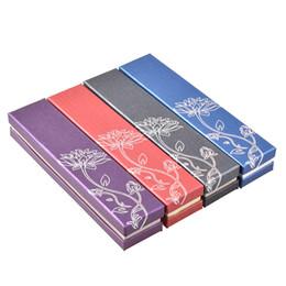 Wholesale Wood Boxes Cheap - Argositment 14PCS Four-color printed lotus necklace bracelet jewelry box Cardboard Necklace Bracelet Cheap Jewellery Boxes