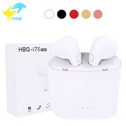 Wholesale Iphone Charge Case - Original HBQ i7 i7s TWS headset true wireless bluetooth headphone twins earphone earpieces stereo headset with charging case for iPhone 8 X