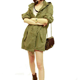 Wholesale Military Winter Trench Coat Jacket - New Women Winter Warm Army Green Military Parka Trench Hooded Coat Jacket