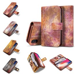 Wholesale Magnet Cover Iphone 5s - Wallet Leather Phone Case for iphonex 8 7 6 6s 5 5s SE Magnet Card Slots Flip Cover for Samsung S8 S7edge Card Holder Back Cover Case OPPBag