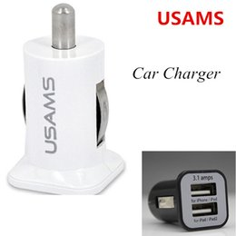 Wholesale Usb Voltage Output - Dual Two USB Cell phone Car Chargers 5A 3.1A Double 2 Ports High Quality Power Auto Adapter for iPhone 7 6S HTC iPod Samsung Galaxy S5