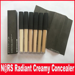 Wholesale N Skin - N RADIANT CREAMY concealer Cosmetics Face Eye Powder Plus Foundation Concealer Makeup Anti Cernes Eclat 6ml With Brush Texture Cremeuse