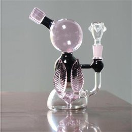 Wholesale real tree pink - Cheap 20cm Tall Pink Glass Bongs Water Pipes Joint Size 14.4mm arm tree perc percolator Oil Rigs Glass Bong Real Images Hookahs