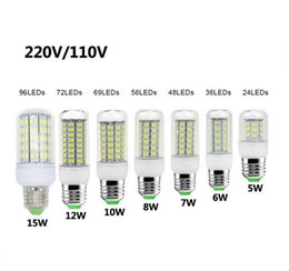 Wholesale Day Light 5w - Good quality 10PCS LED Corn Light Bulb 5730 SMD Lamp AC 110-220V 3W ~15W  Lighting 24leds-96leds indoor outdoor Light with box ship one day