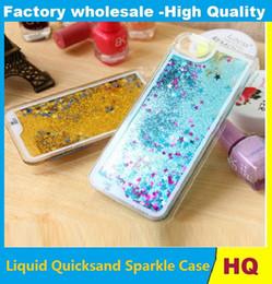 Liquide Quicksand Sparkle PC Case Pour iPhone6S 6SPlus iphone7 7Plus iphone5 Silicone Couverture En Poudre Flottant Glitter Bling Peau De Gel 10pcs ? partir de fabricateur