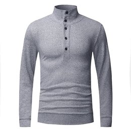 Wholesale Wholesale Mens Sweaters - Wholesale- Pure Sweaters 2016 Brand Men Style Turtleneck Mens Sweaters Pullover Male Slim Fit Autumn Winter Plus Size Knitwear Clothing