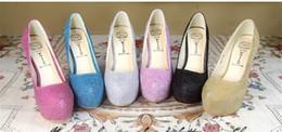 Wholesale Womens Dance Shoes High Heel - Banquet Party Wedding Womens Shoes Graduation Dance High Heels Ladies Stilettos Heel 14 cm Crystal Platform Single Shoes Fast Shipping