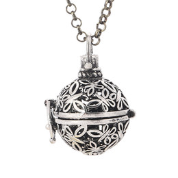 Wholesale Locket Necklaces For Women - Aromatherapy Diffuser Necklaces for Women Essential Oils Locket Pendants Necklace Fashion Aromatherapy Locket Necklace 3 Color