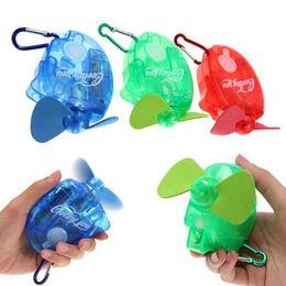 Wholesale Mini Spray Fans - 3 Colors Mini Portable Deluxe Electric Water Spray Fan Stay Fresh Cooling You Water Spray Mist Fan Travel Sport Mini Fan CCA6487 120pcs