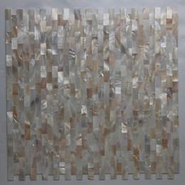 [ENVÍO GRATIS] mosaico de madreperla de color natural de 10x20mm, azulejo sin costura, protector de malla, azulejo de concha de agua dulce (MS060) desde fabricantes