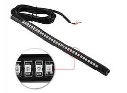 Wholesale Universal Tail Lights - Universal Motorcycle Tail Brake Stop Turn Signal Integrated 3258 LED Light Strip 32SMD