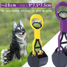 Wholesale Dog Chain Long - Pet Dog Pick Up Clip Teddy Gold Shit Feces Pet Cleaning Supplies Plastic Clip The Long Handle Artifact to Pick Up After C-XZL-002