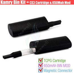 Wholesale Authentic Kamry BIN cartridge Vape pen Thick Oil BUD CE3 PE Tank Box Vapor Mod Portable kits Atomizer Portable Mini e cig Vaporizers DHL