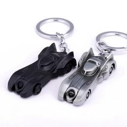 Wholesale Dark Knight Car - Batman V Superman Key Chain The Dark Knight Batmobile Key Rings Gift Chaveiro Car Keychain Jewelry Movie Key Holder Souvenir 2 colors