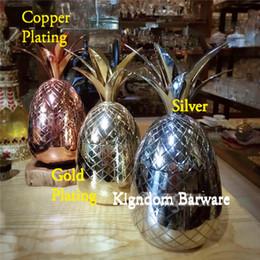 cobre canecas atacado Desconto Atacado-Abacaxi Tumbler / Mug Disponível em 3 cores (Prata, Cobre, Ouro) - Cocktail Beber Copos Canecas Bar Ferramenta