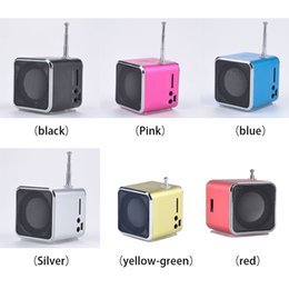 Wholesale Micro Sd Radio - Wholesale- 1pcs Mini LED Music Stereo Media Speaker Music Player FM Radio USB Micro SD TD-V26 For iPhone