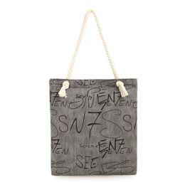 d3637feedd35 Wholesale- Cute Striped Cotton Canvas Handbags Eco Daily Female Single Shoulder  Shopping Bags Tote Women Beach Bags