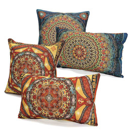 Wholesale Wholesale Lover Pillows - Wholesale- Cotton Linen Pillow Case Square Cushion Rectangle Covering Fabric Wedding Home Lover Gift 45x45cm 50X30cm Throw Pillows