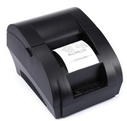 Wholesale Mini Printers - Original ZJ - 5890K Mini 58mm Low Noise POS Receipt Thermal Printer with USB Port EU PLUG