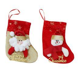 Wholesale Christmas Decoration Hanging Santa - Wholesale Christmas Decorations Stocking Santa Claus Deer Snowman Socks High Quality Can Hang Christmas Stocking Santa Tree Decoration