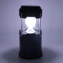 Wholesale Usb Flashlights - IN stock ship Camping Portable Solar Lamp tent LED Flashlights Calight Rechargeable Emergency use with USB sport Outdoor Lantern