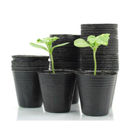 Wholesale Wholesale Large Flower Pots - New 300 pcs Nursery Pots Seedling-raising Pan Feeding Block Nutrition Pan Garden Supplies Free shipping Size 10*10