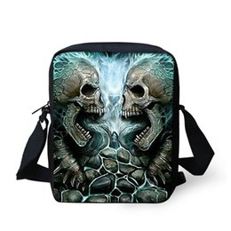 Wholesale Cool Fashion Bags For Men - Wholesale-Fashion Cool Skull Printing Messenger Bag for Men Mini Boys Children Cross Body Bags Small Casual Sling Handbags Bolsas Feminina