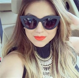 Wholesale Sexy Pilot - Fashion Women Hot New Transparent Cat Eye Glasses Women Sexy Eyeglasses Fashion Optical ClearLens Glasses YW015