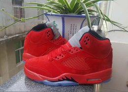Wholesale Cat Bowl Black - Air Retro 5 V Mens Infrared Red Basketball Shoes Alternate Metallic Black Cat Hare Oreo sport Blue shoes Sport US8-13