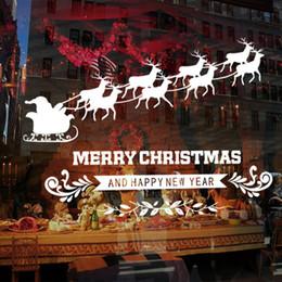 2019 etiquetas do decalque do natal Folha de Neve Cervos Feliz Natal Adesivo De Parede Estilo À Prova D 'Água Decalque De Vinil Adesivos De Parede de Natal Removível Decalques De Natal De Natal desconto etiquetas do decalque do natal