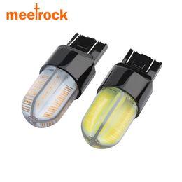 park bulbs Australia - Meetrock 2 pcs new super bright 360 degrees cob silica gel T20 W21 5W 7443 LED car light Brake Parking Reverse Lamp bulb 9-30v