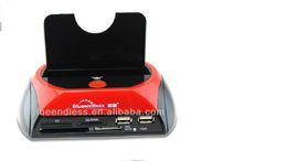 "Wholesale Usb Hdd Reader - Wholesale- Limited 1 Bay Docking Station SATA USB 2.0 2.5""3.5""7-9.5mm Hard Disk Dock TF SD Card Reader Black HDD Enclosure( only 50 pcs )"